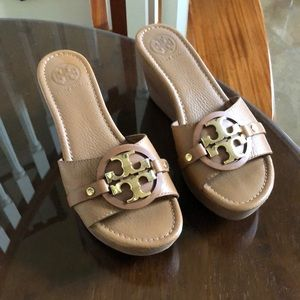Tory Burch wedges worn once